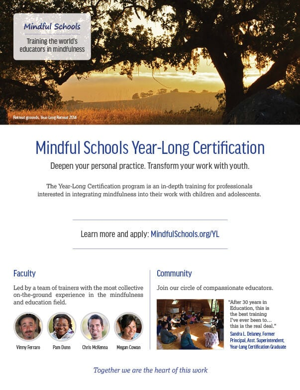 Apply to our Year-Long Certification - Mindful Schools